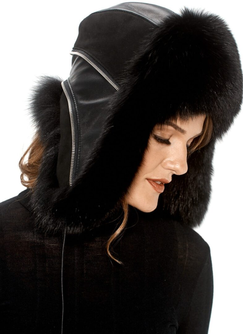 woman with a trooper hat