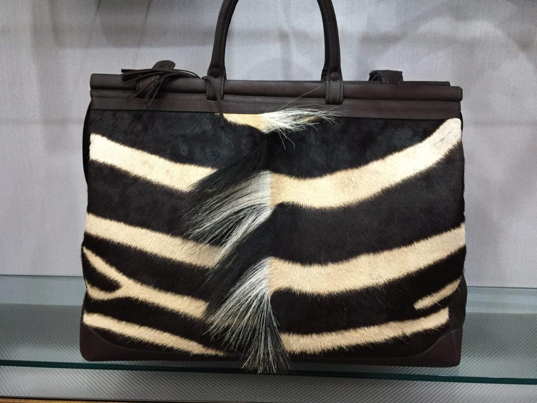 Kulu Zebra With Mane Weekender handbag