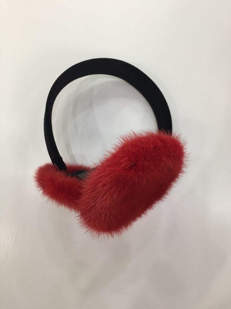 red fur earmuffs