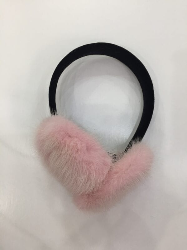 small photo of pair of pink fur earmuffs