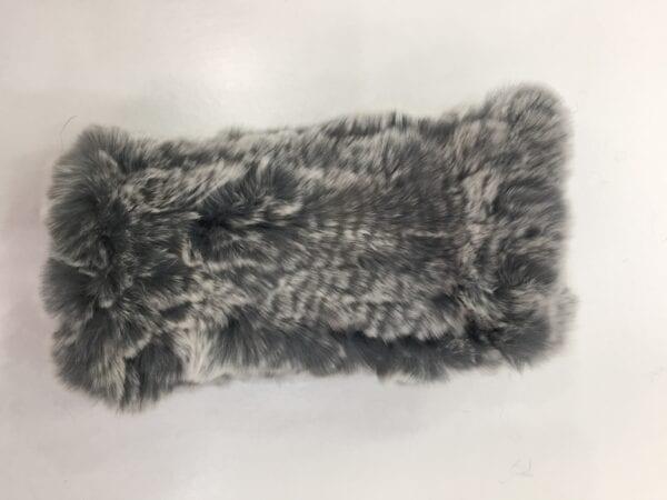 small photo gray fur fingerless gloves