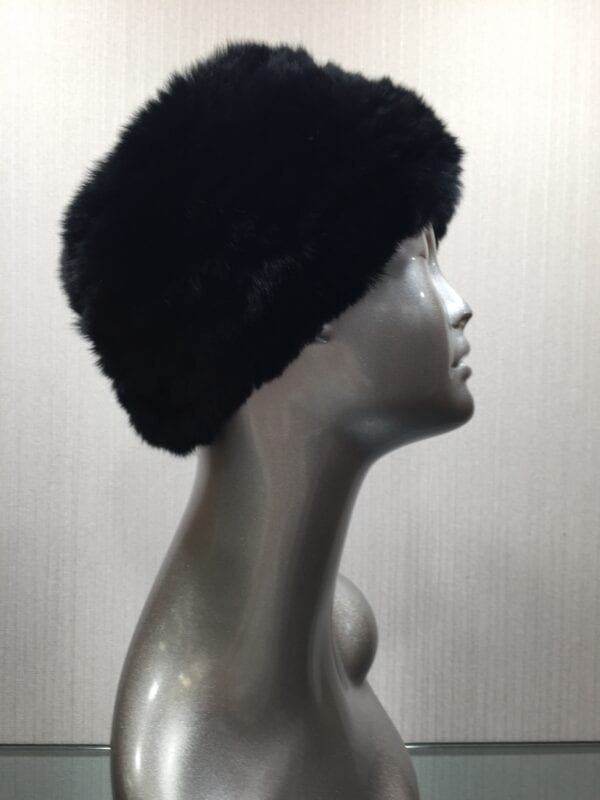 small photo of mannequin wearing fur black headband right