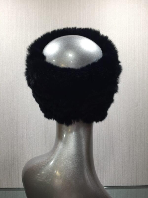small photo of mannequin wearing fur black headband back