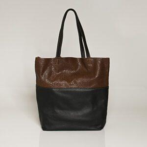 kulu kiki chocolate erova leather tote